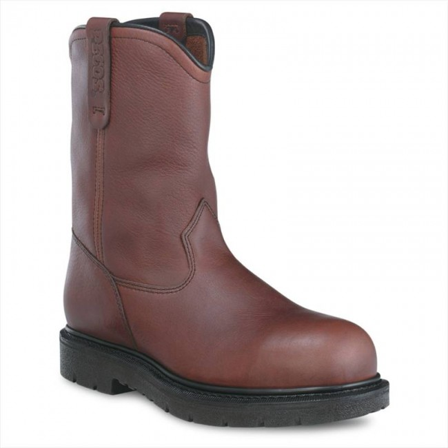 1e8337e0d61 Red Wing 3242 Oil Slip Resistant Good Year Welted Safety Rigger Boots -  Brown