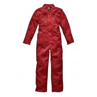 Dickies WD4839 Redhawk Zip Front Overall Red